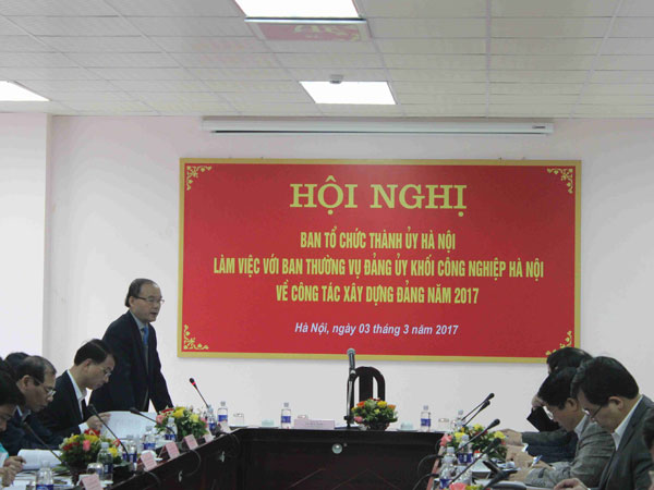 Meeting Between Hanoi Party Committee And Party Committee Of Hanoi Industrial Cluster At Hanoi Mechanical Company