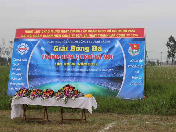 Opening Ceremony Of Youth Football Tournament Of Hanoi Mechanical Company In 2017